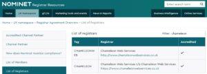 Nominet Registrar