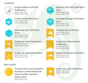 Google Partner Exams Passed